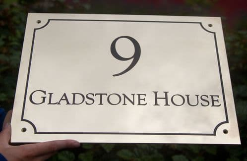 Polished Brass House Numbers | The Sign Maker Shop